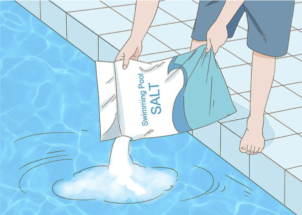 การเติมเกลือสระว่ายน้ำ